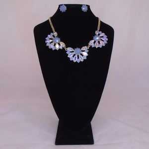 LYDELL NYC CHUNKY OPALESCENT NECKLACE & EARRINGS